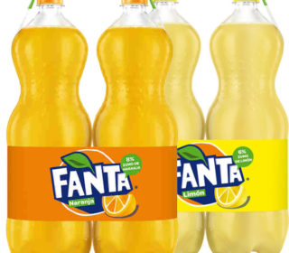 Fanta pack 2×2 L. (naranja o limón)