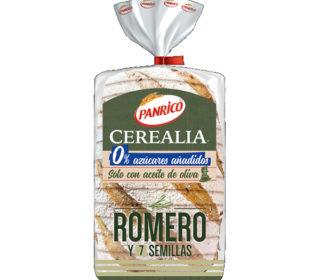 Pan Cerealia romero y 7 semillas 385 g.