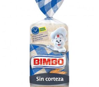 Pan s/corteza blanco Bimbo 450 g.