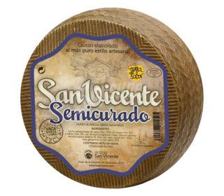 Queso semicurado mezcla San Vicente, 250 g.