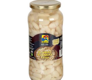 Alubias blancas cocidas Alsara tarro 400 g.