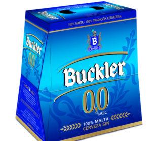 Cerveza Buckler 0,0 s/alc. pack 6×25 cl.