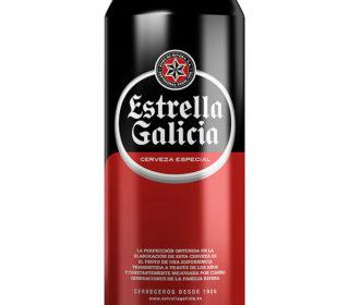 Cerveza Estrella de Galicia lata 33 cl.