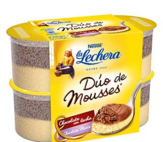 Dúo de mousses La Lechera pack 4×59 g.