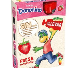 Danonino para llevar fresa pack 4×70 g.