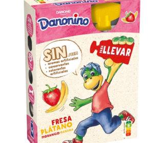 Danonino Pouch fresa/plátano pack 4×70 g.
