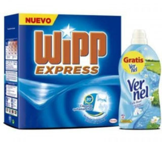 Detergente Wipp 40 dosis + Vernel 57 dosis