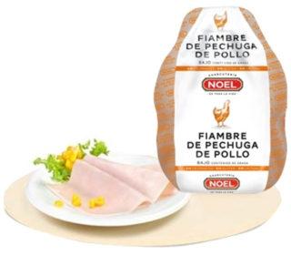 Fiambre pechuga de pollo Noel, 250 g.