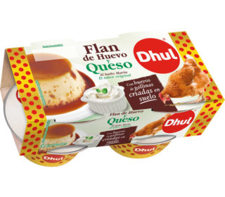 Flan huevo c/queso Dhul pack 4×110 g.