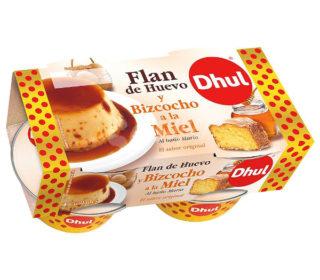 Flan huevo bizcocho/miel Dhul pack 4×105 g.