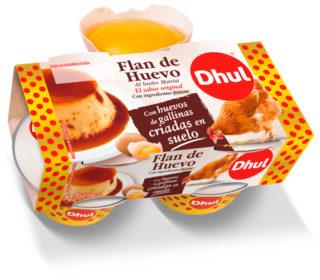 Flan de huevo original Dhul pack 4×110 g.