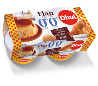 Flan de huevo s/ azucar 0% m.g. Dhul pack 4×100 g.