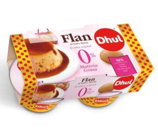 Flan de huevo 0% m.g. Dhul pack 4×100 g.
