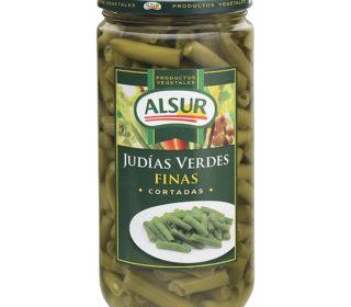 Judías verdes finas Alsur tarro 360 g.