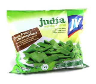 Judías verdes planas J.V. bolsa 450 g.