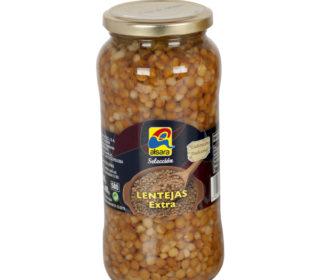 Lentejas cocidas Alsara tarro 400 g.
