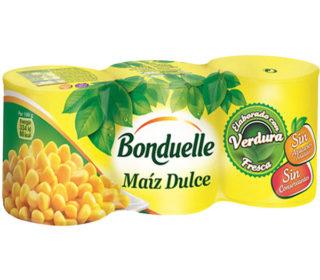 Maíz dulce Bonduelle pack 3×140 g.