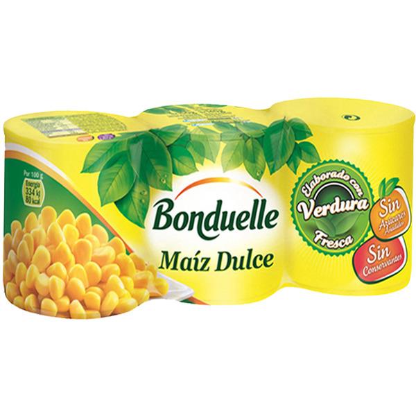 Maiz dulce Bonduelle pack 3×140 g.