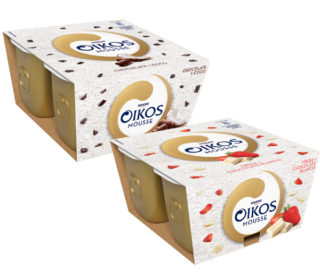 Oikos mousse chocolate y coco pack-4×55 g.