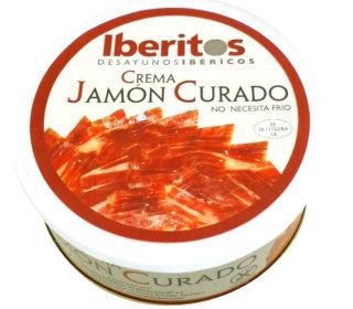 Paté crema jamón curado Iberitos 250 g.