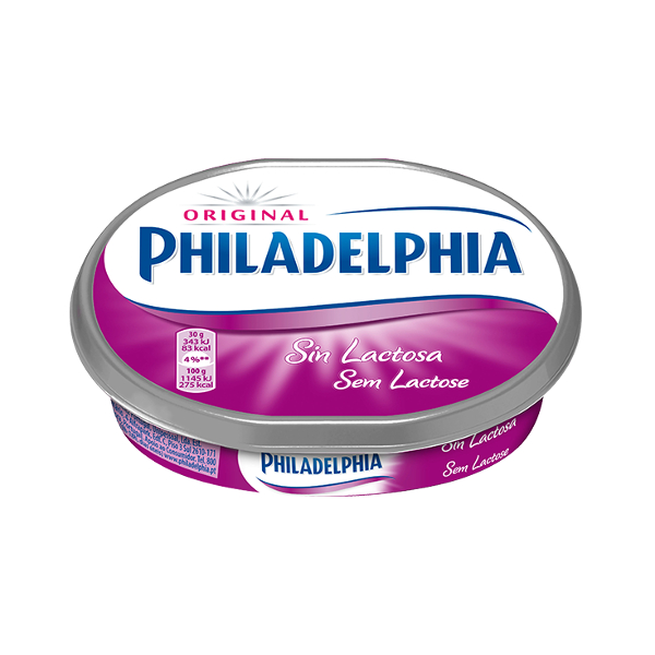 Queso Philadelphia s/lactosa 150 g.