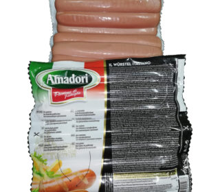 Salchichas coc. pollo/pavo frankfurt Amadori, pqte 1 Kg.
