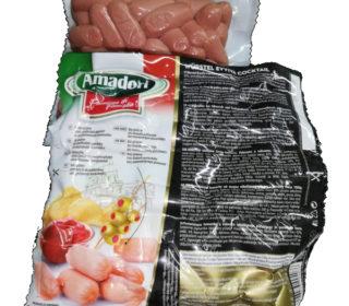 Salchichas coc. pollo/pavo cocktail Amadori, pqte 1 Kg.