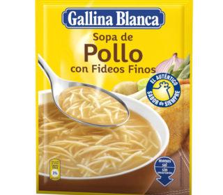 Sopa Gallina Blanca cabello ángel 71 g.