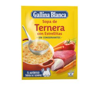 Sopa Gallina Blanca ternera/estrellas 74 g.