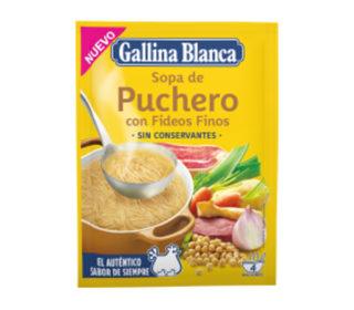 Sopa Gallina Blanca puchero fideo fino 72 g