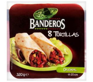 Tortillas trigo Banderos 320 g.