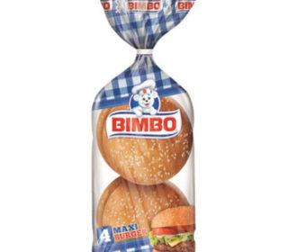 Maxi burguer Bimbo pack 4 unid. 300 g.