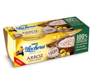 Arroz c/leche La Lechera vidrio pack 2×100 g.