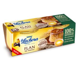 Flan huevo La Lechera vidrio pack 2×100 g.