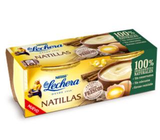 Natillas La Lechera vidrio pack 2×100 g.