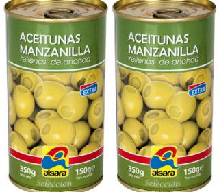 Aceitunas rellenas Alsara 150 g.