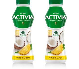 Activia drink piña/coco 280 g.