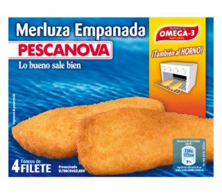 Filetes merluza empanada Pescanova 340 g.