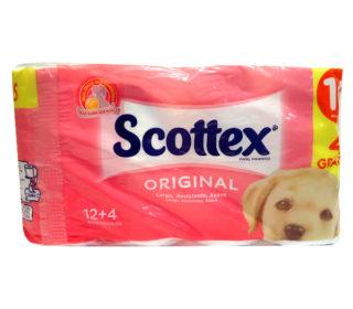 Papel higiénico Scottex 2c 16 rollos
