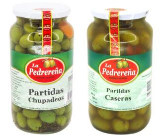 Aceitunas Pedrereña 550 g. (partidas o chupadedos)
