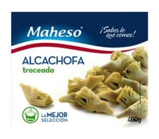 Alcachofas troceadas Maheso 400 g.