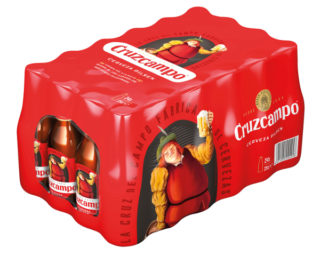Cerveza Cruzcampo bandeja 24×25 cl.