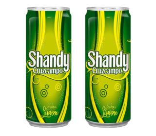 Cerveza Cruzcampo Shandy limón lata 33 cl.