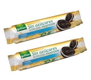 Galletas Twins s/azúcar Gullón 147 g.