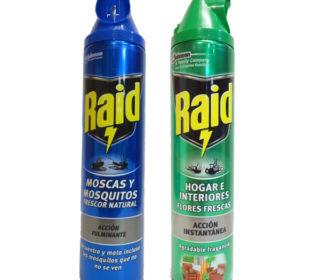 Insecticida Raid spray 600 ml.