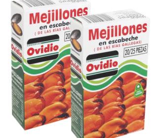 Mejillones Ovidio escabeche 20/25p. 70 g.