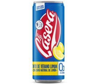 Tinto de verano La Casera s/alcohol limón lata 33 cl.