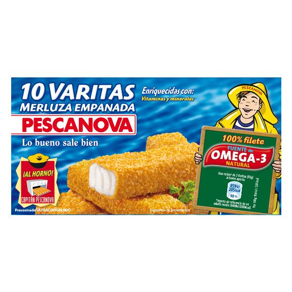 Varitas merluza Pescanova 300 g.