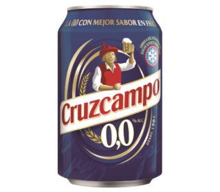 Cerveza 0,0 Cruzcampo lata 33 cl.