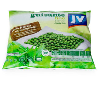 Guisantes J.V. bolsa 450 g.